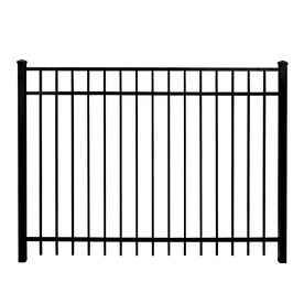 Whiting Iron Powder-Coated Metal Decorative Fence Gate