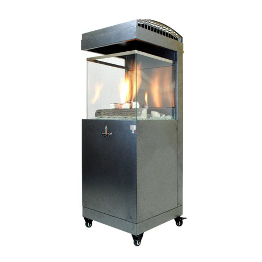 Shop 41 000 Btu Carbon Gray Steel Liquid Propane Patio Heater At