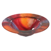 Contemporary Bath Design Multi-Color Glass Vessel Bathroom Sink