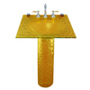 Contemporary Bath Design Quattro Amber Light Complete Pedestal Sink