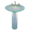 Contemporary Bath Design Saturn Clear Complete Pedestal Sink
