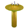 Contemporary Bath Design Saturn Amber Light Complete Pedestal Sink