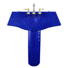 Contemporary Bath Design Caprice Dark Blue Complete Pedestal Sink