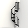 Arke Eureka 47-in x 10-ft Black Spiral Staircase Kit