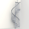 Arke Eureka 47-in x 10-ft Gray Spiral Staircase Kit