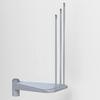Arke Eureka 24.5-in x 15.6-in Gray Painted Steel Stair Riser