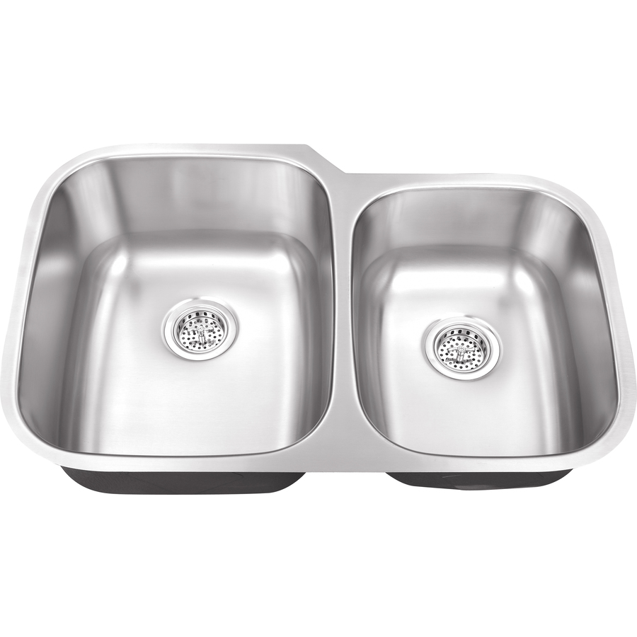 16 Gauge Stainless Steel Sink : ... Sinks 16-Gauge Double-Basin Undermount Stainless Steel Kitchen Sink at