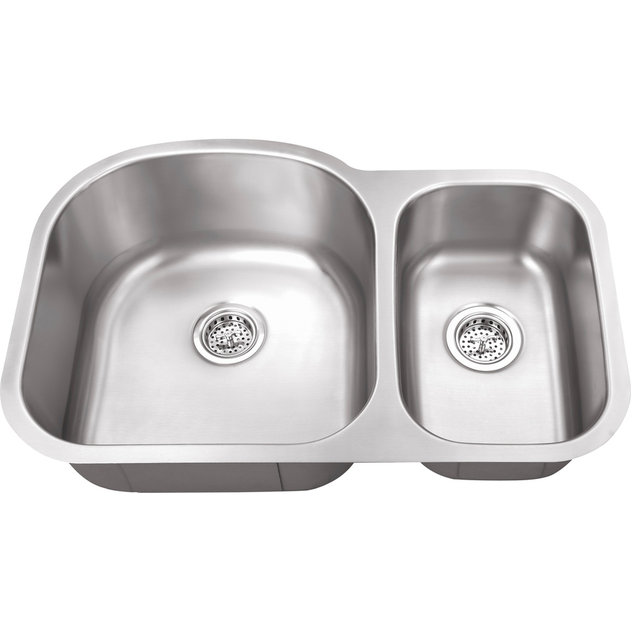 Double Bowl Stainless Steel Sink : Shop Superior Sinks Satin Brush Stainless Steel 2 Stainless Steel ...