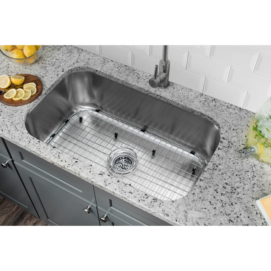 Undermount Stainless Steel Kitchen Sink : ... sinks 18 gauge single basin undermount stainless steel kitchen sink
