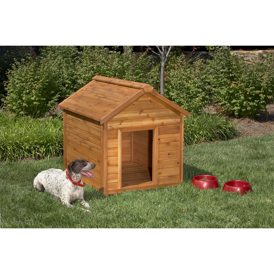 Shop simply cedar large cedar dog house at lowescom for Dog houses sold at lowes