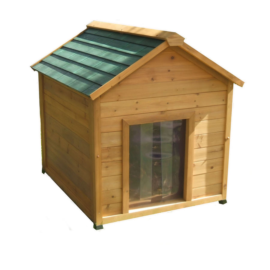 Shop large insulated cedar dog house at lowescom for Large insulated dog house