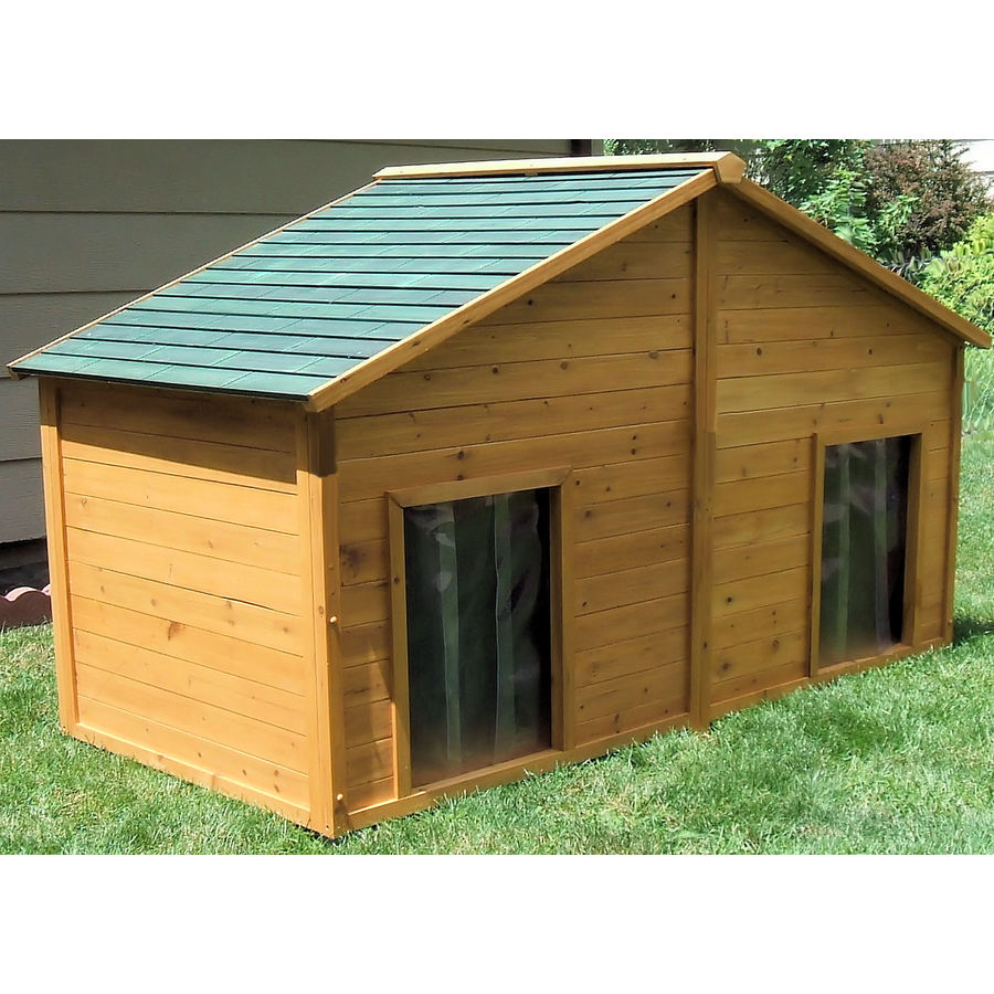 Shop x large cedar insulated duplex dog house at lowescom for Large insulated dog house