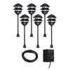 Portfolio 6-Light Black Low-Voltage Path Light Kit