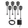 Portfolio 6-Path Light Black Low Voltage 11-Watt Incandescent Path Light Kit