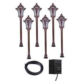 Shop Portfolio 6-Light Copper Low Voltage Incandescent Path Lights