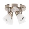 Style Selections 4-Light Brushed Nickel Flush-Mount Fixed Track Light Kit