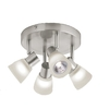 Style Selections 4-Light 7.87-in Brushed Nickel Flush Mount Fixed Track Light Kit