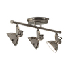 allen + roth 3-Light Standard Polished Nickel Decorative Flexible Track Light with Polished Nickel Glass