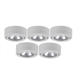 Utilitech 5-Pack 2.6-in Plug-in Under Cabinet Xenon Puck Light