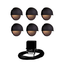 Portfolio Black Low Voltage Incandescent Railing Deck Light Kit