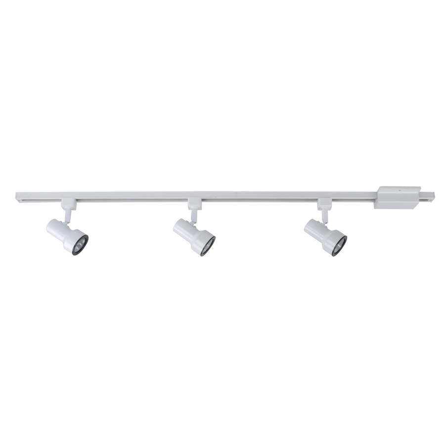 source 3 light white step linear track lighting kit at. Black Bedroom Furniture Sets. Home Design Ideas