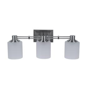 Portfolio 3-Light Lunenbeck Brushed Nickel Bathroom Vanity Light