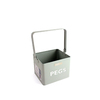 Bentley English Heritage Peg Caddy 9.3-in W x 7.5-in H x 7.5-in D Duck Egg Steel Bin