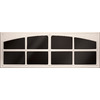 Coach House Accents 2-Pack 45.5-in Almond Mold-In-Color Plastic Garage Door Simulated Window