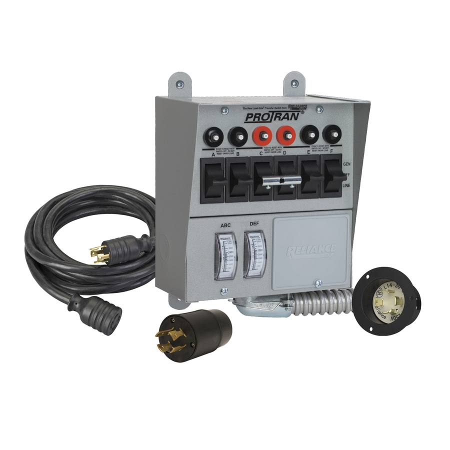 Reliance 6 Circuit Transfer Switch Kit with Power Cord at Lowes.com