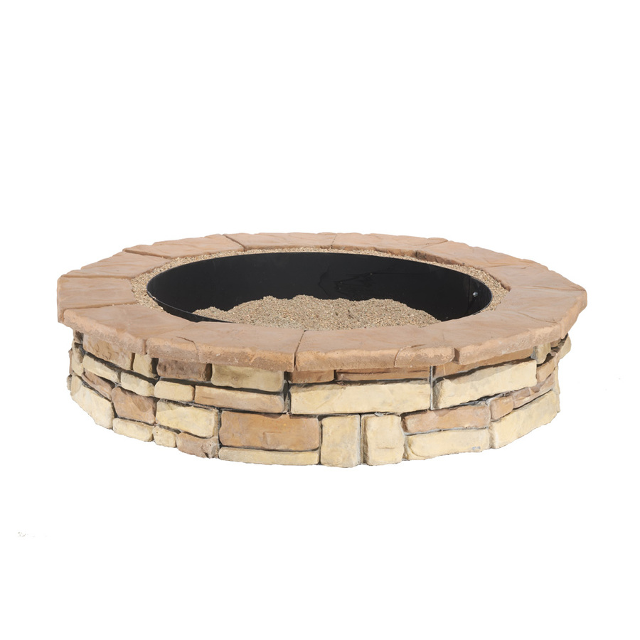 shop pit patio block project kit at lowes