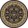 Art Carpet 6-ft 7-in x 6-ft 7-in Round Black Transitional Area Rug