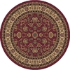Art Carpet 6-ft 7-in x 6-ft 7-in Round Red Transitional Area Rug