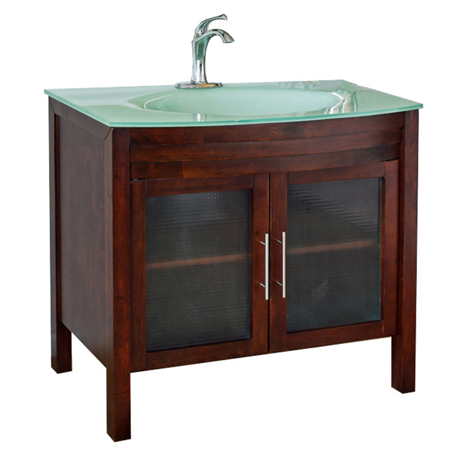Shop Bellaterra Home Medium Walnut Integral Single Sink