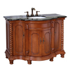 Bellaterra Home Light Walnut Undermount Single Sink Birch Bathroom Vanity with Granite Top (Common: 48-in x 22-in; Actual: 48-in x 22-in)
