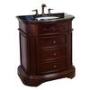 Bellaterra Home Colonial Cherry Undermount Single Sink Birch Bathroom Vanity with Granite Top (Common: 32-in x 22-in; Actual: 32-in x 22-in)