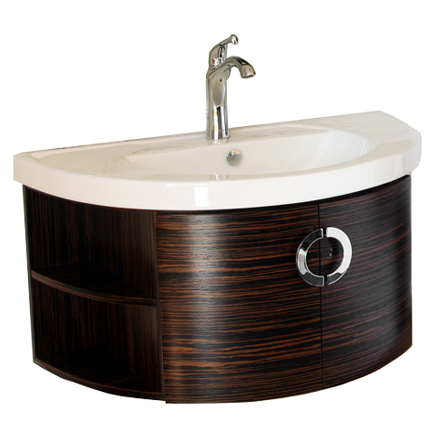 Bowl Sink And Vanity : Bellaterra Home Ebony/Zebra Belly Bowl Single Sink Bathroom Vanity ...