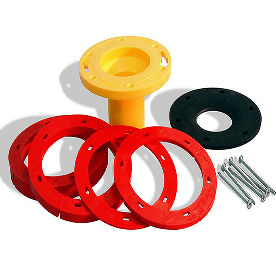 shop set rite products pvc toilet flange extender kit at