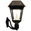 Gama Sonic Imperial II 19-in H LED Black Solar Outdoor Wall Light
