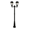 Gama Sonic Imperial II 95-in H Black Solar LED Complete Post Light