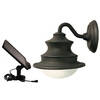 Gama Sonic Barn 10-in H LED Brown Solar Outdoor Wall Light