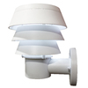 Gama Sonic Triple Tier 10-in H LED White Solar Outdoor Wall Light
