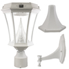 Gama Sonic Victorian 15-in H White Solar LED Post Light