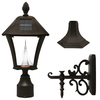 Gama Sonic Baytown 19-in H Black Solar LED Post Light