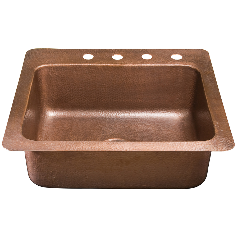 Shop renovations by thompson traders 14 gauge single basin - Copper drop in kitchen sink ...