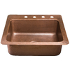 Renovations by Thompson Traders 14-Gauge Single-Basin Drop-in or Undermount Copper Kitchen Sink