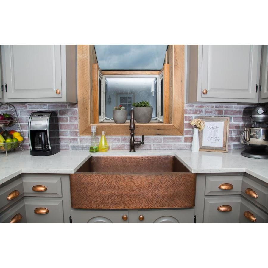 Copper Farmhouse Sink Clearance : ... Single-Basin Drop-in or Undermount Copper Kitchen Sink at Lowes.com