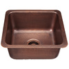 SINKOLOGY Antique Single-Basin Copper Commercial Prep Sink