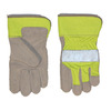 Blue Hawk One Size Fits All Men's Leather Work Gloves