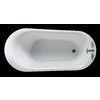 Ove Decors 70-in L x 34-in W x 29-in H Gloss White Acrylic Oval Pedestal Bathtub with Reversible Drain