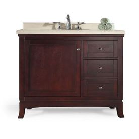 Rustic woodvanity cabinet working drawers faux drawers pplump for Rustic bathroom vanities lowes